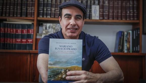 """Retrato a José Ignacio Peña, abogado y magíster en Historia y autor del libro """"Mariano Ignacio Prado, entre la gloria y la leyenda negra"""""""