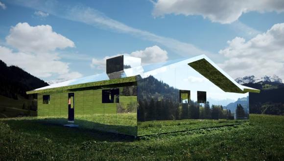 Así es la Mirage Gstaad, la casa-espejo de los alpes suizos que se mimetiza con el entorno. (Foto: Dezeen / YouTube)