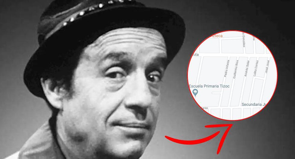 Encuentran calle en homenaje a 'Roberto Gómez Bolaños, en Google Maps, y así luce. (Foto: Google)