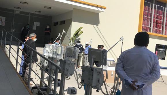 En el Hospital Honorio Delgado hay 25 camas UCI equipadas con ventiladores. Según la Defensoría del Pueblo, en EsSalud hay 20 camas y en las clínicas privadas, ocho (Foto: Zenaida Condori)