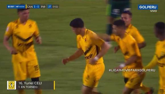 Yuriel Celi convirtió el 3-0 | Foto: Captura
