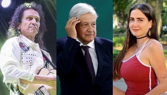 Alex Lora lamentó las expresiones utilizadas por su hija sobre el presidente mexicano, Andrés López Obrador. (Fotos: Instagram / Agencia)