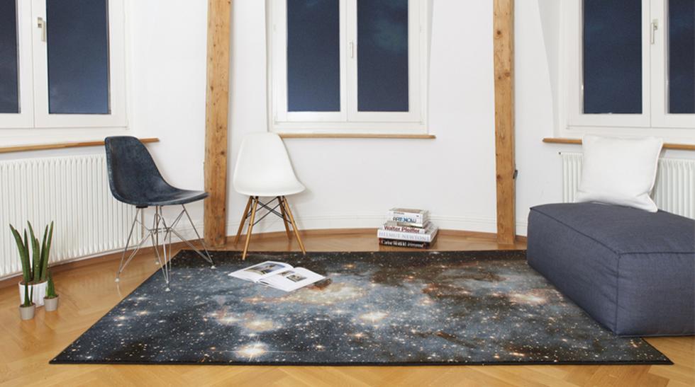 Esta alfombra llevará a tus visitas por un viaje por el espacio - 1