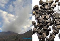 Erupción del volcán Ubinas: este fue el material expulsado