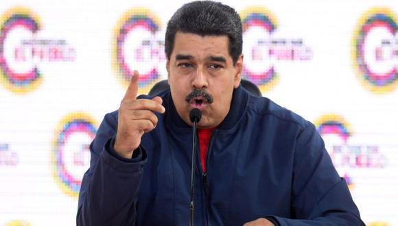 """Nicolás Maduro convocó a una unión cívico militar para que respalden su proceso constitucional frente """"a los complot, las conspiraciones y los intentos de golpes de Estado"""" (Foto: AFP)"""