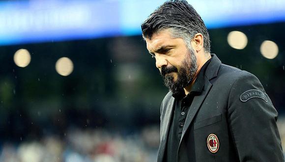 Gennaro Gattuso, hombre identificado con el Milan. (Foto: AP)