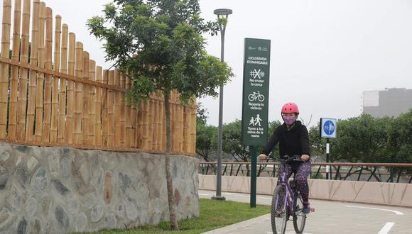 La ciclovía está a disposición de los ciudadanos las 24 horas, mientras el acceso al Parque Bicentenario será a partir de mañana en el horario entre las 9 a.m. y 7 p.m. (Foto: Municipalidad de San Isidro)