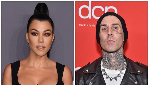 Kourtney Kardashian y Travis Barker protagonizan apasionado beso en Instagram. (Foto: AFP)