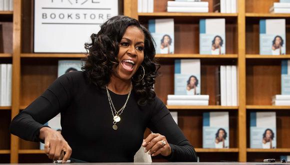 """Michelle Obama ganó un premio Grammy por su audiolibro """"Becoming"""". (Foto: AFP)"""