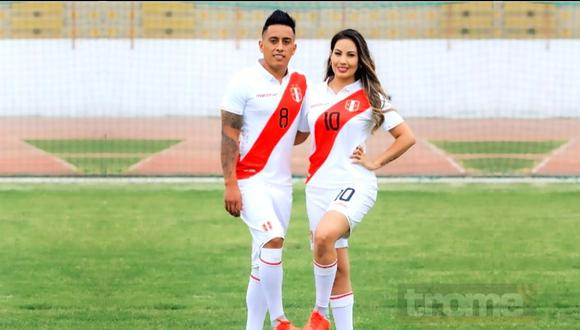 Christian Cueva y Pamela López tuvieron reencuentro tras partido contra Colombia. (Foto: Instagram @cueva10oficial).