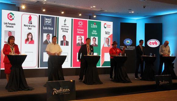 El primer debate de candidatos a la Presidencia de Bolivia generó burlas en redes sociales. (Foto: EFE/Juan Carlos Torrejón).