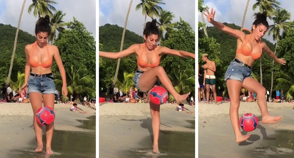 Lisa Zimouche sorprende al mundo con otros de sus increíbles videos de fútbol freestyle. (Foto: @lisafreestyle en Instagram)
