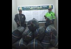 Huancavelica: PNP decomisa media tonelada de hoja de coca