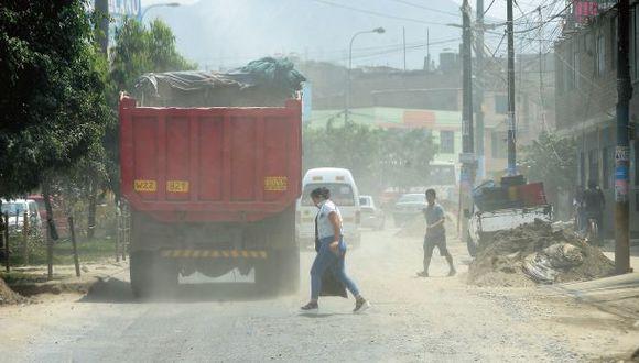 Huaycoloro: calor y polvo agravan los días tras los huaicos