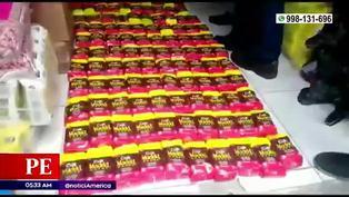 La Victoria: Policía allana dos locales que vendían productos adulterados