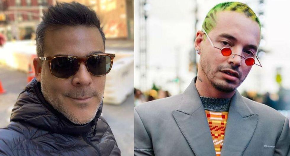 Adolfo Aguilar se tomó foto con J Balvin en Nueva York. (Imagen: Composición Instagram)