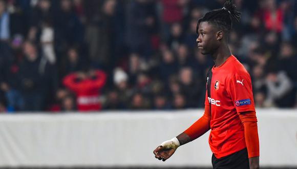 Camavinga tiene 17 años y ya disputó 25 partidos con Stade Rennes. (Foto: AFP)