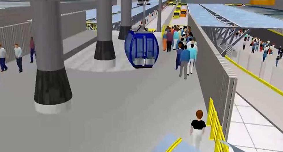 El teleférico que conectará Independencia con San Juan de Lurigancho (SJL) tendrá una extensión aproximada de 6 km y contará con 5 estaciones. (Foto: Protransporte)