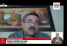 Manuel Merino reaparece en la sesión del pleno del Congreso