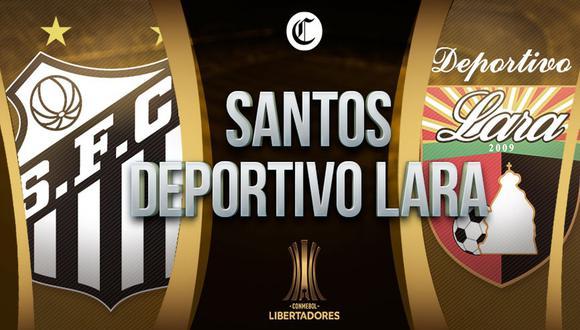 Santos vs. Deportivo Lara EN VIVO: cómo y dónde VER GRATIS el duelo por Copa Libertadores 2021