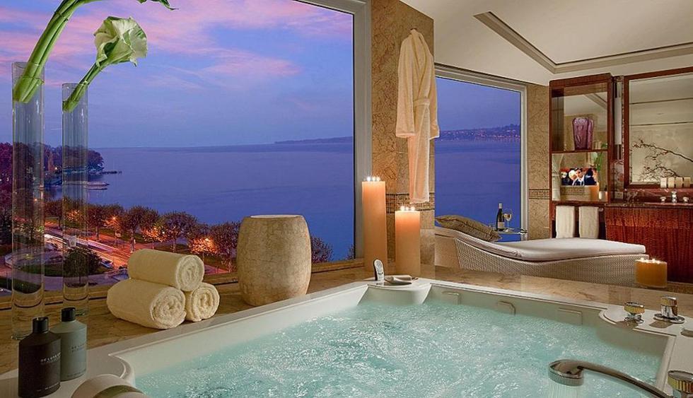 Suite Royal Penthouse – Hotel President Wilson. En Ginebra se ubica la habitación de hotel más cara de mundo. El precio por noche es de US$83.200. (Foto: Hotel President Wilson)