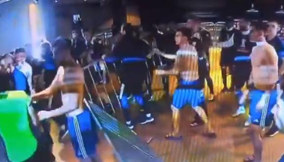 Te contamos todo sobre los incidentes que se ocasionaron en el vestuario de Boca luego del partido con Mineiro. (Foto: Captura)