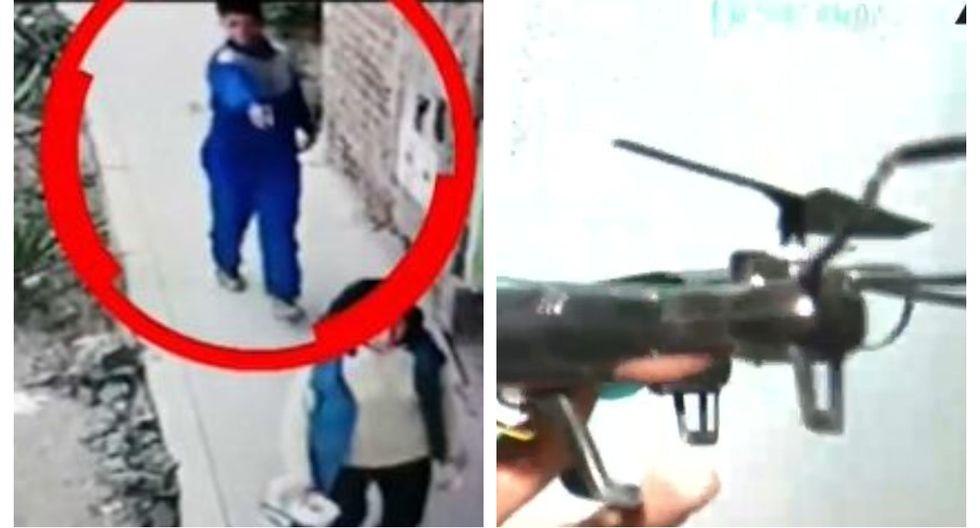 Sujeto usó un drone junto a otros cómplices para realizar el seguimiento a su víctima por cuatro días. (Captura: ATV Noticias)