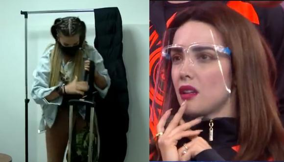 "Alejandra Baigorria renunció en vivo a ""Esto es guerra"". (Foto: Captura América TV)."
