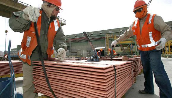 El cobre a tres meses en la Bolsa de Metales de Londres cotizaba con un aumento de 0,3%. (Foto: AFP)