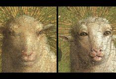 Un 'Ecce Homo' al revés: restauran obra de arte y descubren oveja de rostro humanoide