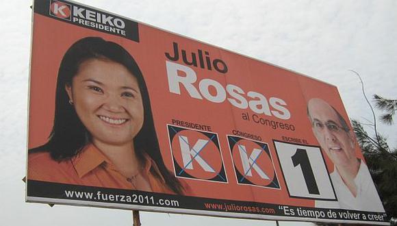 Rosas renuncia a FP por postura de Keiko a favor de unión civil