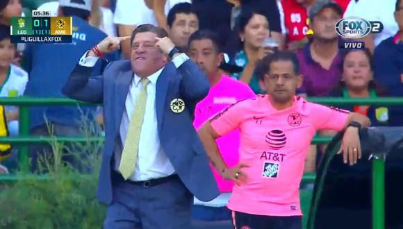 América vs. León EN VIVO: así fue el desaforado festejo del 'Piojo' Herrera por el 1-0 de la Águilas | VIDEO. (Video: FOX Sports 2 / Foto: Captura de pantalla)