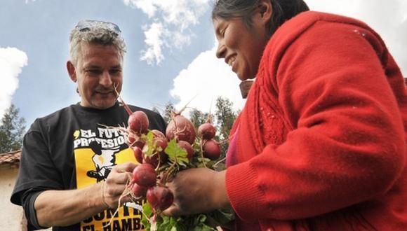 Roberto Baggio llegó al Perú en 2011 y luego hizo una visita protocolar al Cusco.