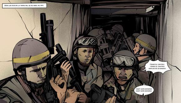 El libro Chavín de Huantar fue escrito por el teniente coronel EP Carlos Freyre e ilustrado por Jesús Castro. (Captura del libro)