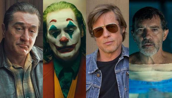 """""""The Irishman"""", """"Joker"""", """"Once upon time in Hollywood"""" y """"Dolor y gloria"""" son algunas de las películas nominadas a los Oscar 2020. (Foto: Difusión)"""