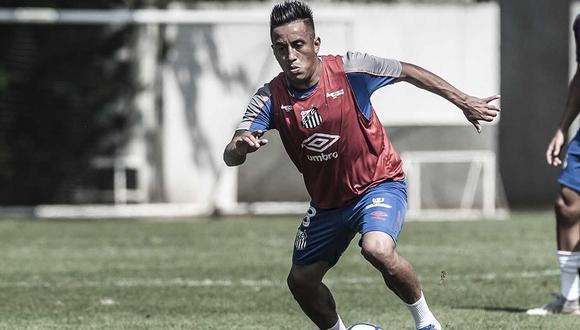 Cueva se reincorporó a los entrenamientos del Santos FC, pero no con el plantel principal. (Foto: Ivan Storti / Santos FC)