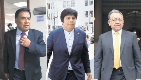 Velásquez y Palma llegaron al Parlamento como representantes por Lambayeque. Alarcón busca una curul en el Congreso por Arequipa. (Foto: GEC)