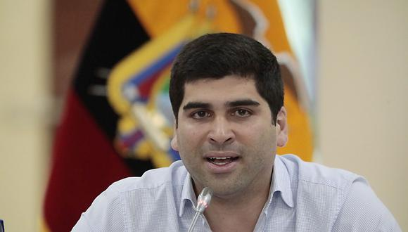 El renunciante vicepresidente de Ecuador Otto Sonnenholzner en una imagen del pasado 14 de marzo. (AFP).