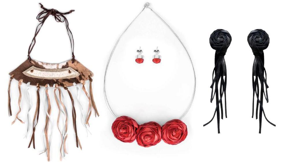 Todoas las joyas de 'Jessi Kahn' son hechas en cuero y mano. (Fotos: Jessi Kahn)