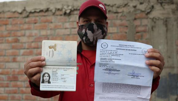 El venezolano Eudomar Gonzalez pide esclarecer  la muerte de su pareja Diana Carolina Alemán Diaz en el hospital María Auxiliadora de San Juan de Miraflores quien fue internada luego de sufrir un aborto. (Fernando Sangama/ GEC)