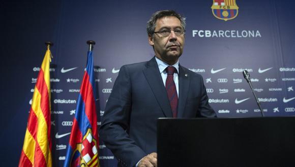 Josep Maria Bartomeu, el presidente del Barcelona está en serios aprietos por difamar a sus jugadores. (Foto: EFE)