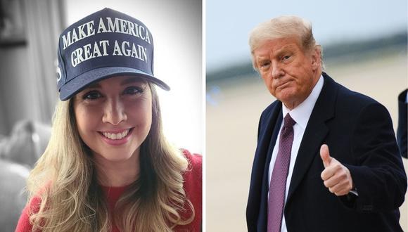 Jessica Tapia mostró todo su apoyo al presidente estadounidense Donald Trump para las elecciones de noviembre. (Fotos: Instagram / @jessicatapiaperu/ Mandel Ngan AFP )