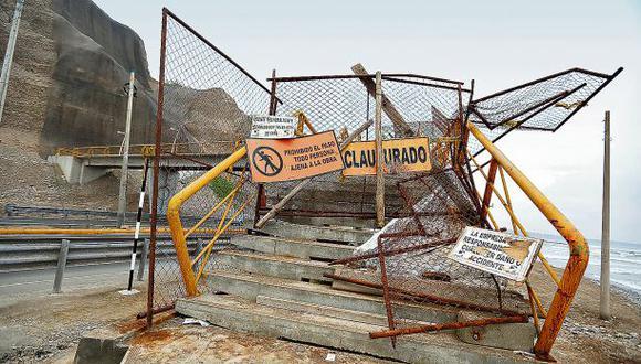 Costa Verde: puentes peatonales permanecen clausurados