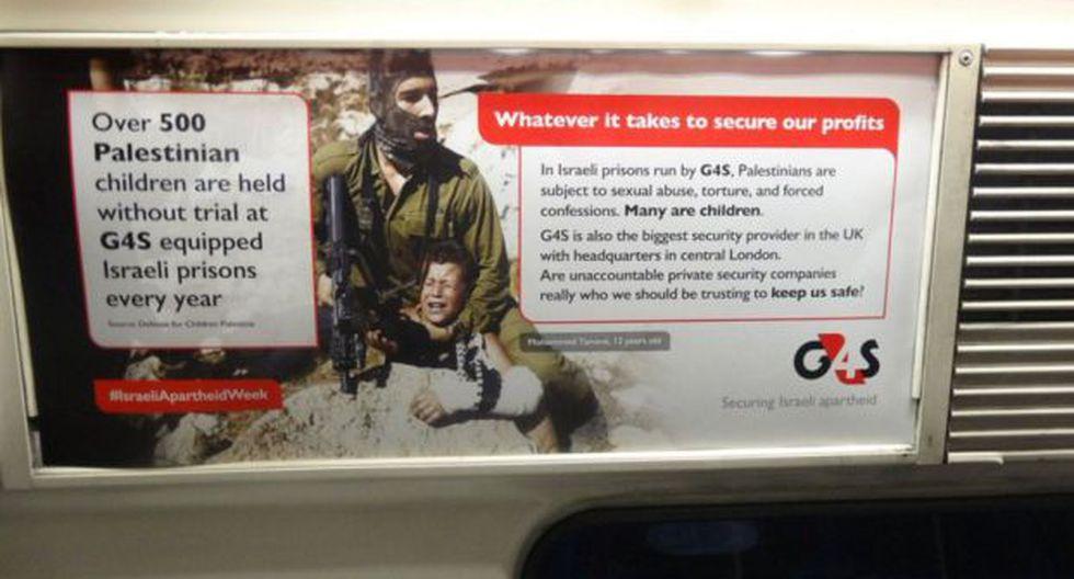 Los anuncios en metro de Londres que desataron la ira de Israel