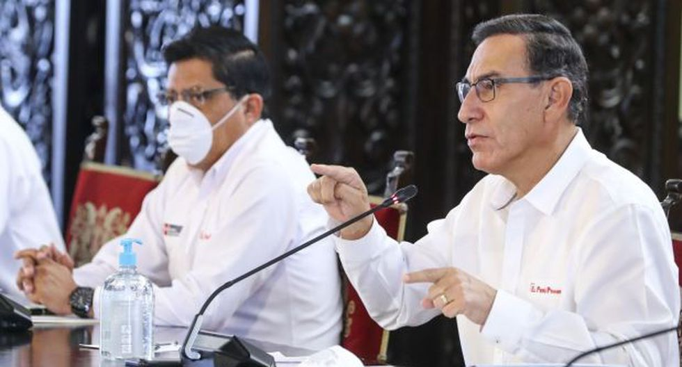 El presidente Martín Vizcarra se refirió a la Ley de Protección Policial al hacer un nuevo balance sobre el avance del coronavirus en el Perú. (Foto: Presidencia)