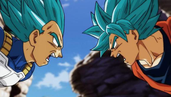 """""""Dragon Ball Super"""". Aunque ahora Vegeta y Gokú pelean en el mismo bando, nunca faltan pequeñas riñas. foto: Toei Animation."""