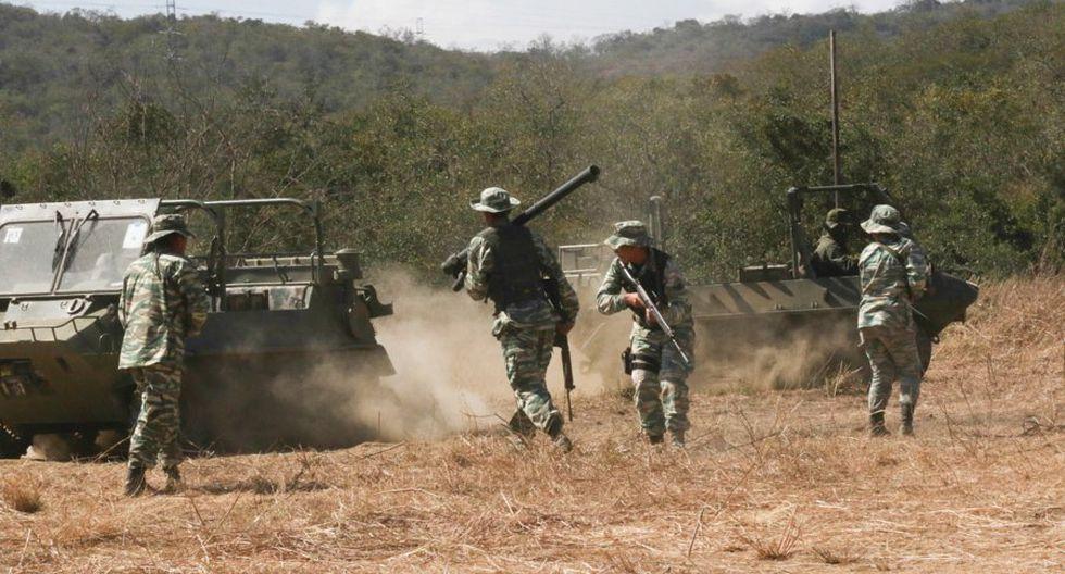 Venezuela: Nicolás Maduro inicia ejercicios militares Operación Cívico Militar Bicentenario de Angostura 2019 en el Fuerte Guaicaipuro. (Presidencia de Venezuela).