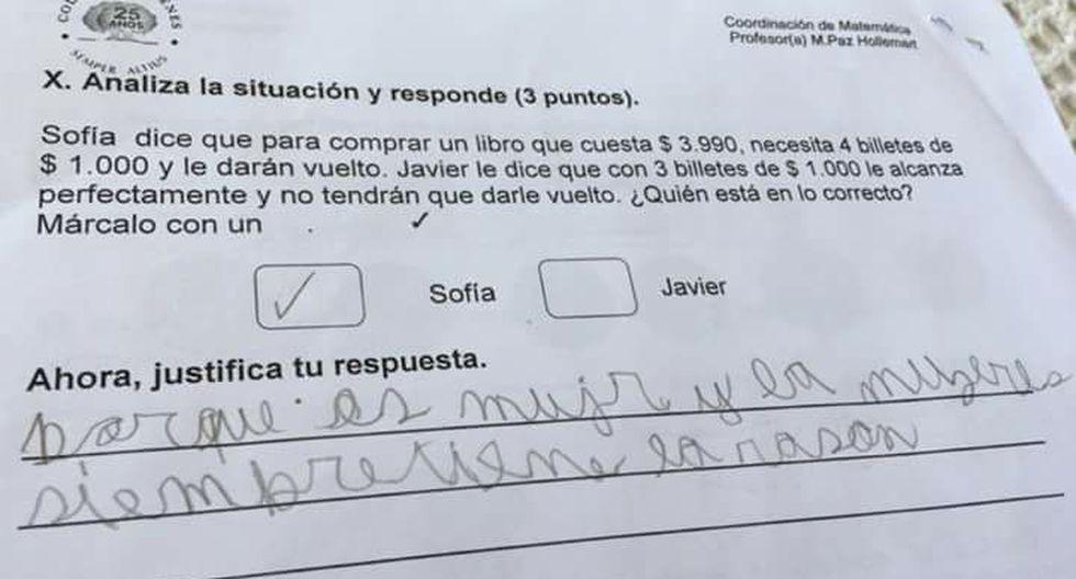 Este niño en Chile la tuvo clara al momento de responder quién era la que tenía la razón en el problema matemático que se hizo viral en Facebook.