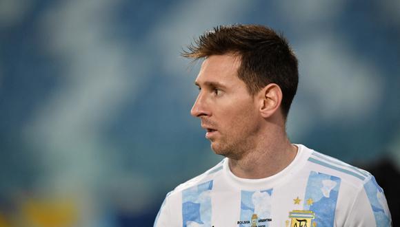 Lionel Messi es el máximo anotador de la Copa América 2021 con tres tantos. (Foto: AFP)