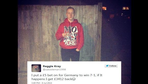 Reggie Kary apostó al 7-1 y ganó. (Foto: Twitter Reggie Kary)